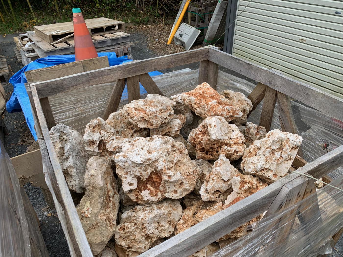 輸入石材カリフォルニアロック写真